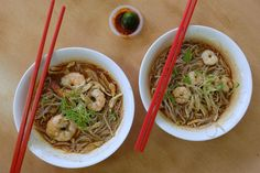One of Kuching's best export is none other than their Sarawak laksa.