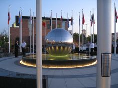 World's best spheres made in granite, stainless steel, or acrylic. Water Fountain Design, Water Fountains, Architectural Sculpture, Steel Sculpture, Granite, Landscape Design, Stainless Steel, Outdoor, Globe
