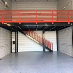 We sell all types of used Mezzanines – request a quote today or give us a call at for more information. Product Details We sell all types of used Mezzanines – request a quote today or give us a call at for more information. Garage Plans With Loft, Garage Loft, Garage Shop, Garage Workshop, Garage Doors, Pole Barn Garage, Building A Garage, Metal Building Homes, Garage Design