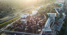 Flying over Facebook's new campus by Frank Gehry