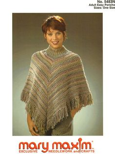 Make this easy to knit poncho using this pattern.