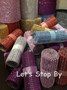 NEW Diamond Rhinestone Ribbon Bling Vase Wrap Floral Wedding Decoration Supplies in Home & Garden, Wedding Supplies, Venue Decorations Wedding Decoration Supplies, Floral Wedding Decorations, Wedding Lanterns, Denim And Diamonds, Wedding Wraps, Ribbon Wedding, Rhinestone Wedding, Event Decor, Bling Bling