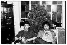 John Cale + Lou Reed. Christmas, 1977. NYC.