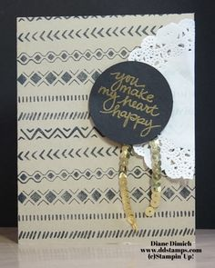 Stampin' Up! Bohemian Borders greeting card