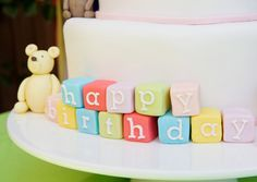 Fondant block letters, need to do this for upcoming birthday cake! :)
