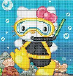 Hello Kitty scuba diving