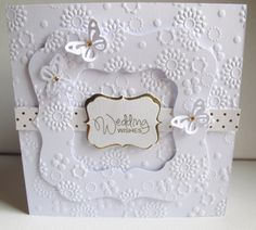 homemade wedding cards | added a couple of Martha Stewart punched butterflies, and finished ...