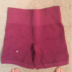 Lululemon spandex sculpt shorts! dark pink lulu spandex shorts! They're in perfect condition, I just get more use out of another color. Doing some spring cleaning! no pilling at all. The style is sculpt shorts. lululemon athletica Shorts