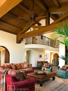 Mediterranean Family Room Design, Pictures, Remodel, Decor and Ideas