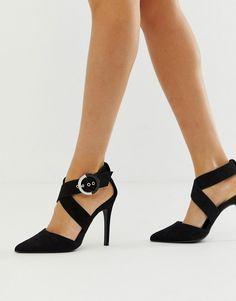 253ffce9428 New Look buckle point heel in black