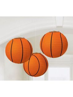 """Basketball 9 1/2"""" Paper Lantern Decorations - Individualized Party Supplies"""