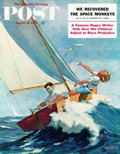 Artist Richard Sargent (1911-1979) painted 47 Post covers between 1951 and 1962, when photographs were rapidly replacing magazine illustrations. Sargent often used a playful narrative style where one picture did indeed express a thousand words.