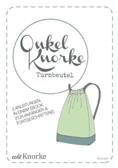 """""""Onkel Knorke"""" Turnbeutel - hier findest du das Ebook, die Anleitung um deinen Turnbeutel selber zunähen."""