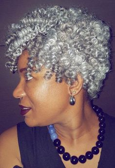 61 Finger Coil Masterpieces for You New Natural Hairstyles - Natural Hair Styles New Natural Hairstyles, Hairstyles With Bangs, Black Hairstyles, Curly Hair Styles, Natural Hair Styles, Light Blue Hair, Finger Coils, Peinados Pin Up, Pelo Natural