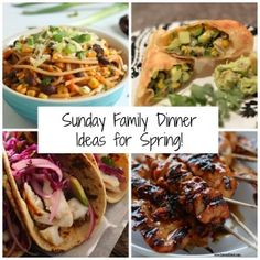 Are you looking for Sunday Family Dinner Ideas for Spring?  We have 15 delicious ideas!