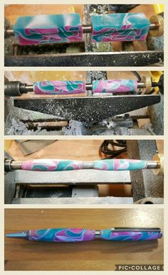 First acrylic pen for my daughter Trinity. Now I know that why they call it a wood lathe.