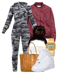 A fashion look from November 2017 by miizz-starburst featuring NIKE, MCM, Casio and Forever 21 Baddie Outfits For School, Baddie Outfits Casual, Swag Outfits For Girls, Cute Swag Outfits, Chill Outfits, Teenager Outfits, Teen Fashion Outfits, Dope Outfits, Trendy Outfits
