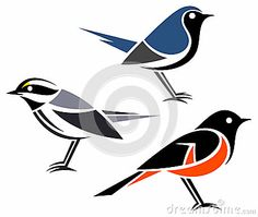 Stylized birds by Elena Belous, via Dreamstime Stencil Patterns, Stencil Designs, Fabric Painting, Diy Painting, Animal Line Drawings, Stencils, Bird Silhouette, Sea Birds, Native Art