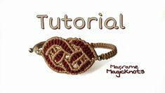 Macrame Celtic Love Knot Bracelet Tutorial ♥ Noeud d'amour Celtique Macr...