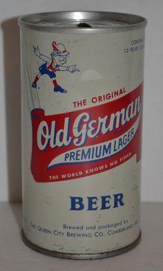 Vintage Beer Can Old German Premium Lager Pull Tab 12 FL.OZ. Cumberland, MD #OriginalOldGermanPremiumLager