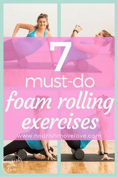 Speed up muscle recovery and relieve hip, knee, and back pain with these 7 must-do foam rolling exercises for sore muscles {pregnancy friendly}. Arm Pit Fat Workout, Weight Lifting Workouts, Flat Belly Workout, Lower Ab Workouts, Easy Workouts, Butt Workouts, Foam Rolling, Workout Plan For Women, Workout Plans