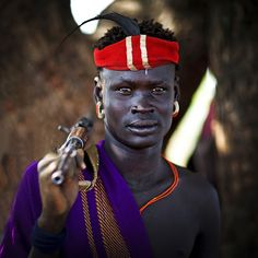 Mursi warrior - Ethiopia by Steven Goethals on Flickr.