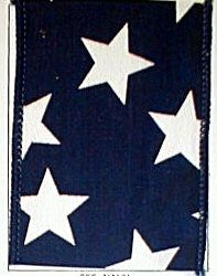 Americana Blue with White Star 2.5 inch Wired Ribbon  shelley b home and holiday