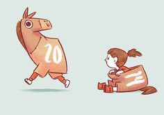 Year of the Horse by Jacob Grant, via Behance