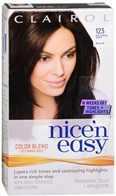Nice n Easy Permanent Color  123 Natural Soft Black 1 Each Pack of 7 >>> Learn more by visiting the image link.