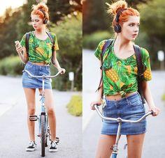 Like Life T Shirt, Lee Skirt, Vans Sneakers, Romwe Backpack, Nunuco Design Iphone Case