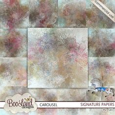 CU #Signature Papers #Carousel by #Booland Designs #digiscrap #theStudio