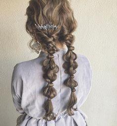 Kawaii Hairstyles, Pretty Hairstyles, Easy Hairstyles, Long Length Hair, Hair Arrange, Hair Setting, Hair Reference, Love Hair, Hair Lengths