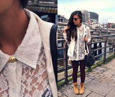 SANJO-KEIHAN (by Kaori J) http://lookbook.nu/look/3308139-SANJO-KEIHAN    I just got some Timberlands today and I love how she styled them :)