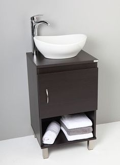 lavamanos modernos - Buscar con Google Small Bathroom Sinks, Modern Bathroom, Home Interior, Kitchen Interior, Wash Basin Cabinet, Washbasin Design, Geometric Furniture, Sink Design, Modern Kitchen Cabinets