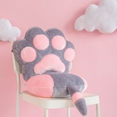 Online Shop Cat Paw Design Cushion For Home & Office Thickened Joint Disassembly Chair Cushion High-quality Seat Cushion Decora Chair Pillow Chair Pillow, Chair Cushions, Sofa Pillows, Cushion Pillow, Kawaii Cat, Kawaii Shop, Kawaii Girl, Kawaii Plush, Alpaca Plushie