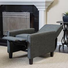 Olinda Contemporary Beige Fabric Recliner Chair | Recliner ...