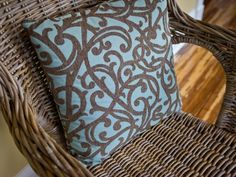 Follow these steps to make a wicker chair look like new again.