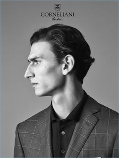 Corneliani taps model Thibaud Charon as the star of its spring-summer 2017 campaign. Photographer Johan Sandberg captures strong images for the striking… Face Drawing Reference, Profile Drawing, Human Reference, Art Reference Poses, Photo Reference, Profile Photography, Face Photography, Male Profile, Profile View