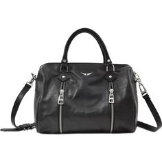 Zadig & Voltaire Sunny Medium bag (485 CHF) ❤ liked on Polyvore featuring bags, handbags, black and zadig voltaire bag
