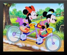 Mickey Mouse Minnie Bicycles Walt Disney Musical Fantasy Cartoon Movie Framed 16x20 Poster Print with Brand New High Quality 2 Black Wood Frame 18x22 Buy It Hang It by Mypostergallery, http://www.amazon.com/dp/B00B0EVTPA/ref=cm_sw_r_pi_dp_7prLrb1H0B0ST