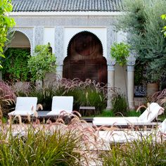 In Marrakech, Villa des Orangers displays the best Moroccan craftsmanship. Discover the private Riad suite with its own pool Moroccan Garden, Moroccan Style, Ethnic Style, Big Garden, Lush Garden, Restaurants, Destinations, Villa, Morocco Travel