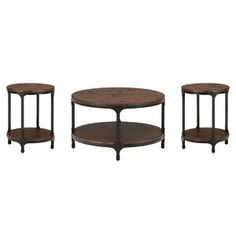 Shop the latest collection of Carolyn 3 Piece Coffee Table Set Laurel Foundry Modern Farmhouse from the most popular stores - all in one place. Similar products are available. Coffee Table Metal Frame, 3 Piece Coffee Table Set, Solid Wood Coffee Table, Large Coffee Tables, Coffee Table With Storage, Diy End Tables, End Table Sets, Wood Tray, How To Distress Wood