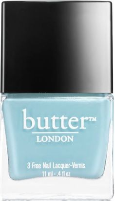I love this nail polish!! Petticoat Nail Lacquer : periwinkle-blue shimmer : butter LONDON