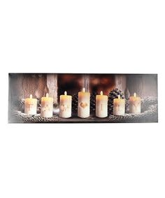 This Seven Candle Family LED Wrapped Canvas is perfect! #zulilyfinds