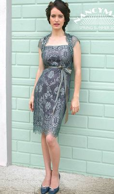 reef and teal olivia lace dress by nancy mac | notonthehighstreet.com