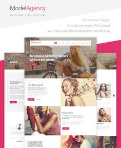 Modeling Agency Website Template