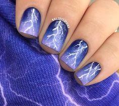 Lightning Bolt Nails So Shocking Diy Cute Pretty