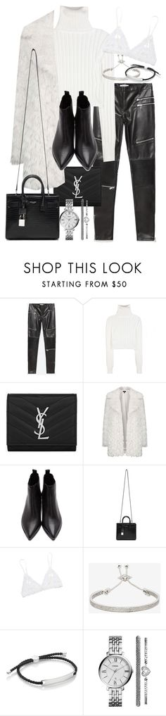 """Untitled #19457"" by florencia95 ❤ liked on Polyvore featuring Zara, Calvin Klein Collection, Yves Saint Laurent, Topshop, Acne Studios, Hanky Panky, Eddie Borgo, Monica Vinader and FOSSIL"