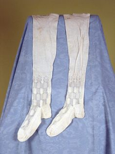 Lady's White Knit Stockings, France, 1820-1840  - Lot 331 $103.50