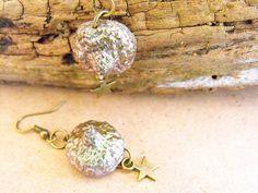 Acorn earrings, autumn jewellery, nature inspired, organic earrings, sparkling bronze, sparkly earrings, sparkling jewellery, sparkle jewel de FamDdaear en Etsy